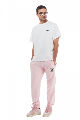 EMBROIDERED-DESIGN TRACK PANTS
